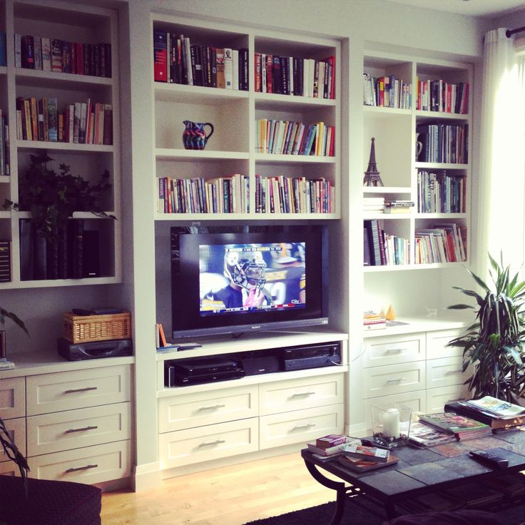 Living room // built-in // entertainment console // shelving