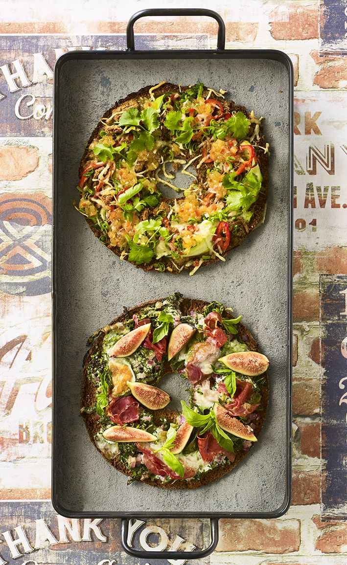 Varraspizzat: Italian twist & marokkolainen nyhtökaurapizza meloni chutneyllä #linkosuo #varraspizza #varrasleipä