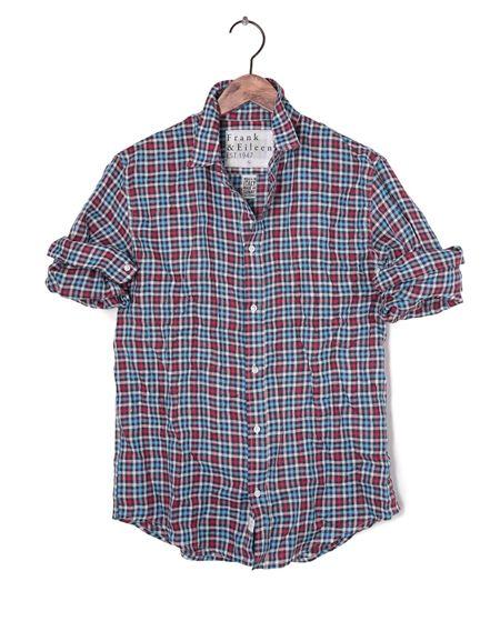 Mens Paul Linen Multi Check Shirt