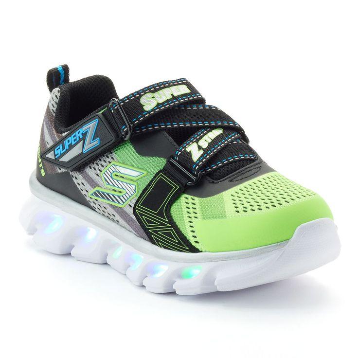 Skechers S Lights Hypno-Flash Boys' Light-Up Shoes, Size: 12, Light Pink