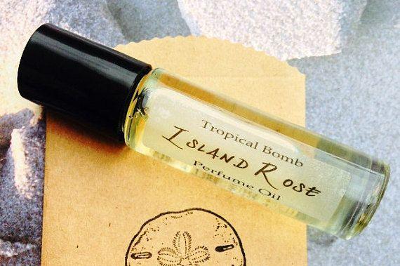 Island Rose Perfume Oil Tuberose Flowers Fresh Cut Floral