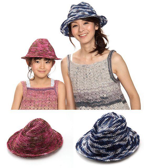 free crochet fedora pattern