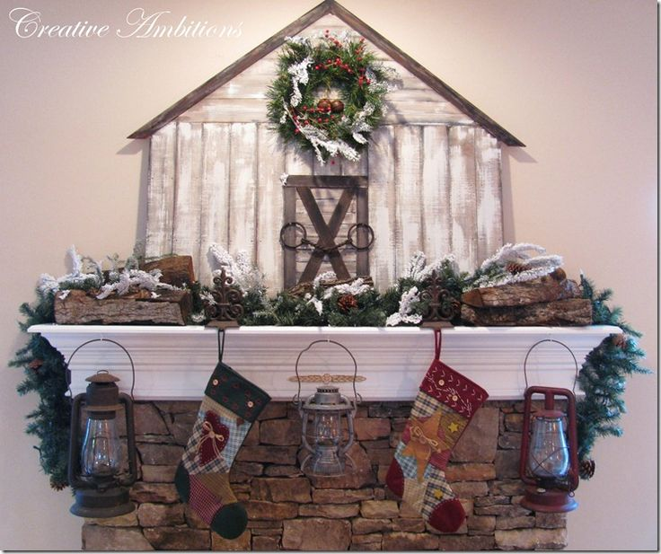 beautiful mantel barn, and she shows you how to make it!