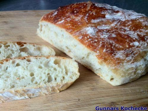 No-Knead Bread - Rustikales Weißbrot ohne Kneten - #Rezept