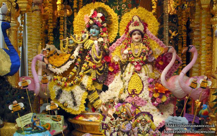 To view Radha Gokulanand Wallpaper of Bhaktivedanta Manor in difference sizes visit - http://harekrishnawallpapers.com/sri-sri-radha-gokulananda-iskcon-bhaktivedanta-manor-wallpaper-001/