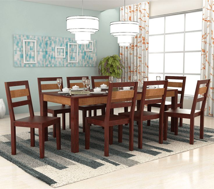 Family That Eats Together Stays Needs A Right For Their Soget Perfect 8 Seater Dining Table Your Happy The Crown Of Mahogany Finish On