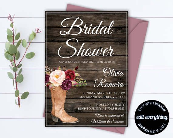 Country Bridal Shower Invitation  Southern by MintedMemories