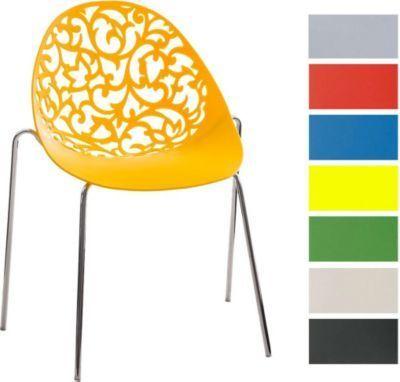 Design Retro Stapelstuhl FAITH, Materialmix aus Kunststoff und Metall in Chromoptik, bis zu 6 Farben wählbar Jetzt bestellen unter: https://moebel.ladendirekt.de/kueche-und-esszimmer/stuehle-und-hocker/esszimmerstuehle/?uid=dd3e7690-8480-5a80-b975-bc386d88722a&utm_source=pinterest&utm_medium=pin&utm_campaign=boards #kueche #esszimmerstuehle #esszimmer #eckbänke #hocker #stuehle