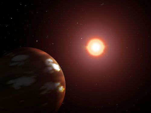 Planet orbiting Gliese 436