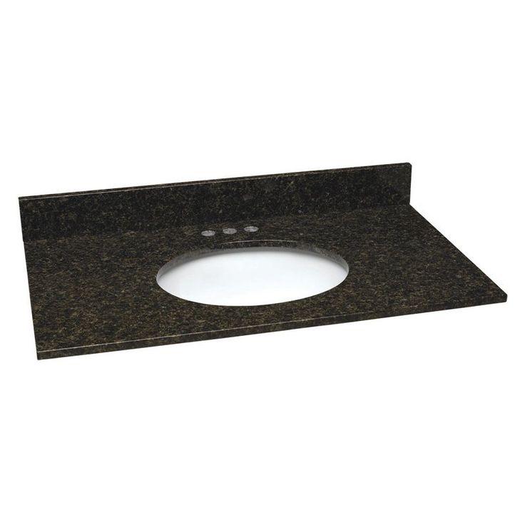 Granite Single Sink Vanity Top   552430