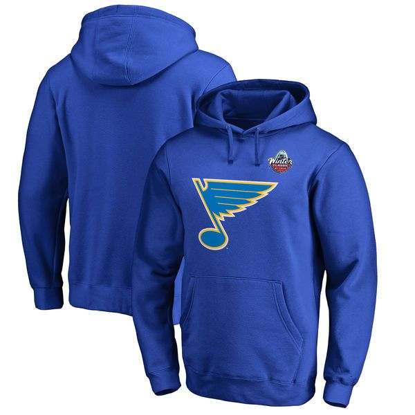 St. Louis Blues 2017 NHL Winter Classic Logo Big & Tall Pullover Hoodie - Royal - $64.99