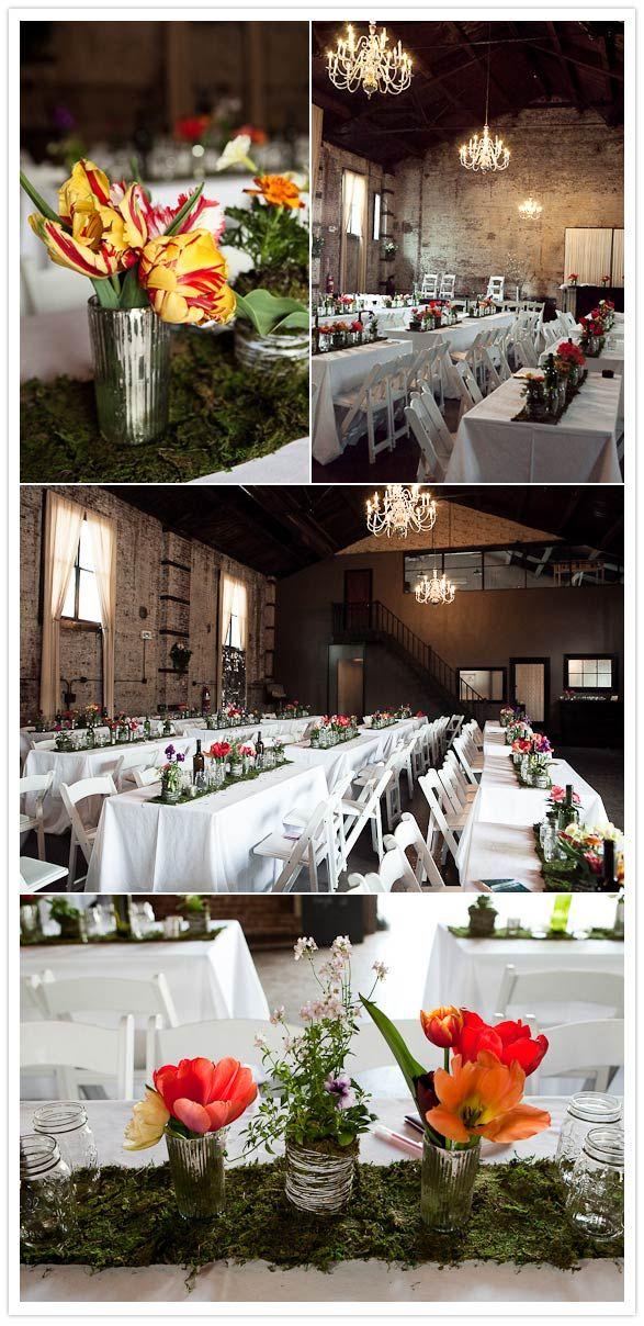 pretty tables: Tables Food, Weddings With Food Trucks, Food Trucks Weddings Idea, Food Food, Moss Tables Runners, Food Truck Wedding, Pretty Tables, Food Photo, Brooklyn Weddings
