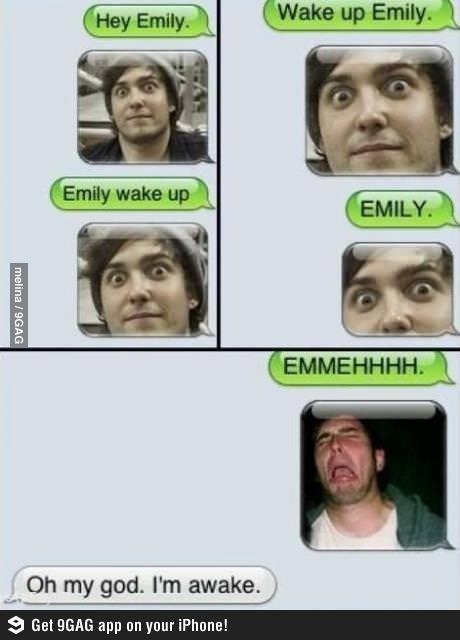 hahah wake up whats app :D