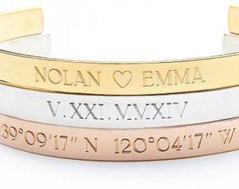 COORDINATE bracelet coordinates cuff location by MyBelovedCo