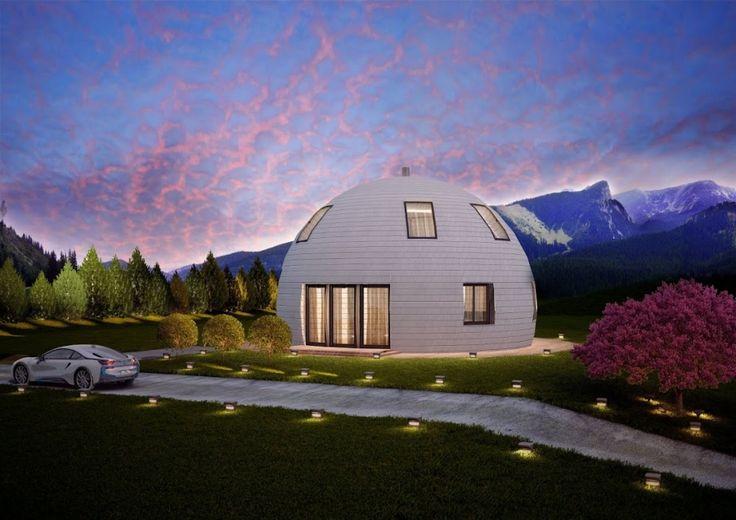 По словам создателей проекта, дом купольной формы требует в 2 раза меньше электроэнергии на обеспечение тепла, чем дома обычной формы.
