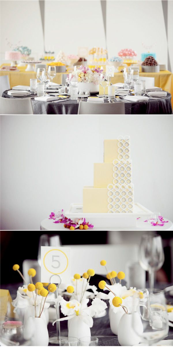 Yellow and Grey Wedding: Billy Ball, Orange Wedding Color, Cakes Tables, Wedding Cakes