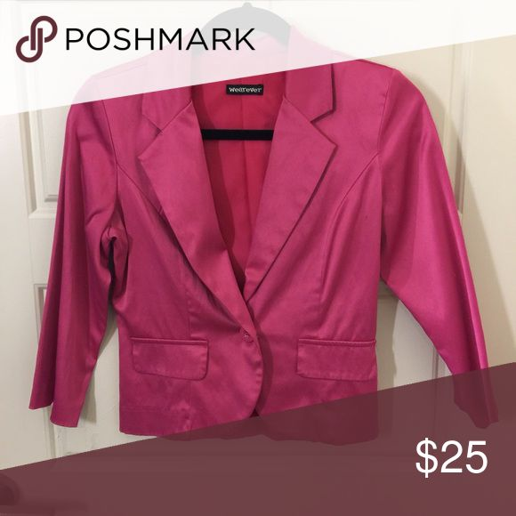 Hot pink blazer NWOT Jackets & Coats Blazers