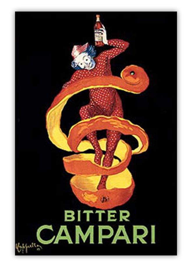 Leonetto Cappiello Bitter Campari Orange Peel poster by Antonio Ruggerino on livingExclusive