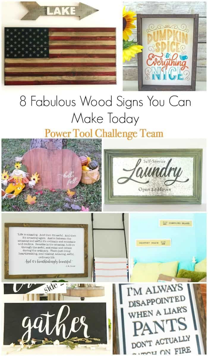 8 wood signs you can make with full tutorials