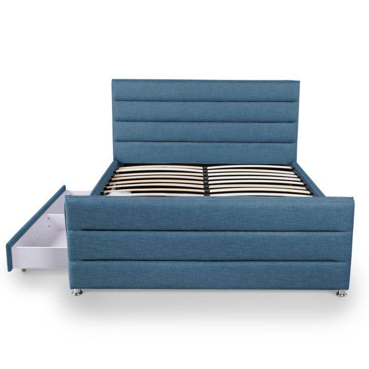Interior Design Lit Avec Rangement 160x200 Lit Contemporain En Tissu Bleu Avec Rangement 160x200 Cm Jimi Confora Lit Rangement Chambre Ado Meuble Canape Design
