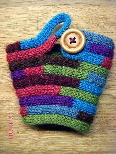I love this cup cosy! This has got to be one of the easiest cosies we have featured so far, as it's made out of i-cord! If you don't know what i-cord is, there are a couple of ways to m…