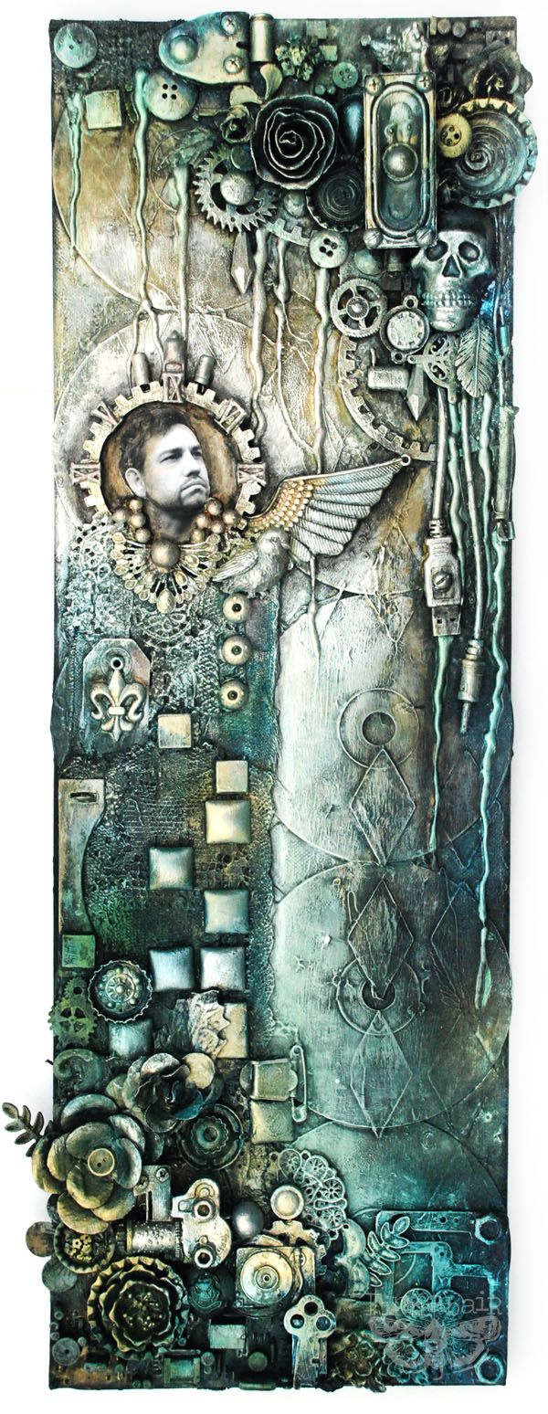 Finnabair: Angel of Music - Mixed-media Collage on canvas