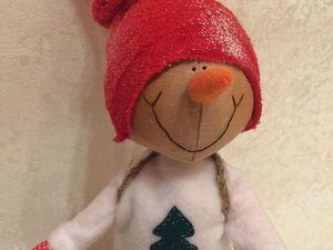 Путешествие в зимний лес: создаем снеговика - Ярмарка Мастеров - ручная работа, handmade