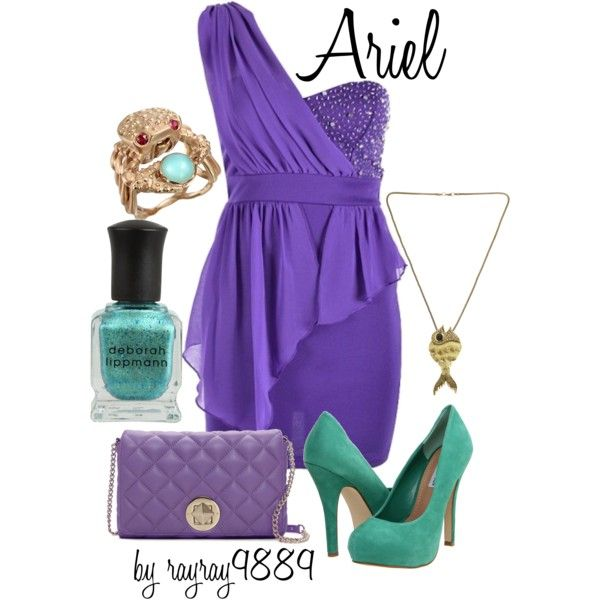 Ariel: Inspiration Outfits, Colors Combos, Ariel Outfits, Disney Princesses, Disney Clothing, Colors Combinations, Cocktails Outfits, The Dresses, Disney Dresses