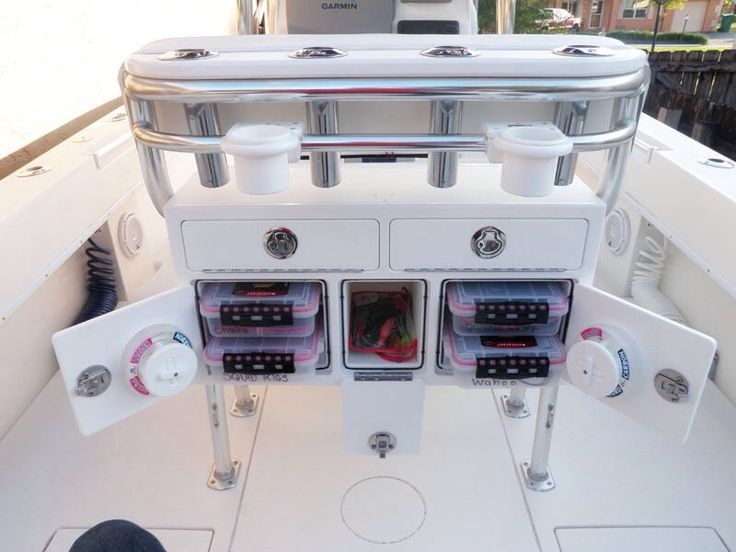 Leaning Post Storage Center Console Boat Ideas Makoboatsconsoles