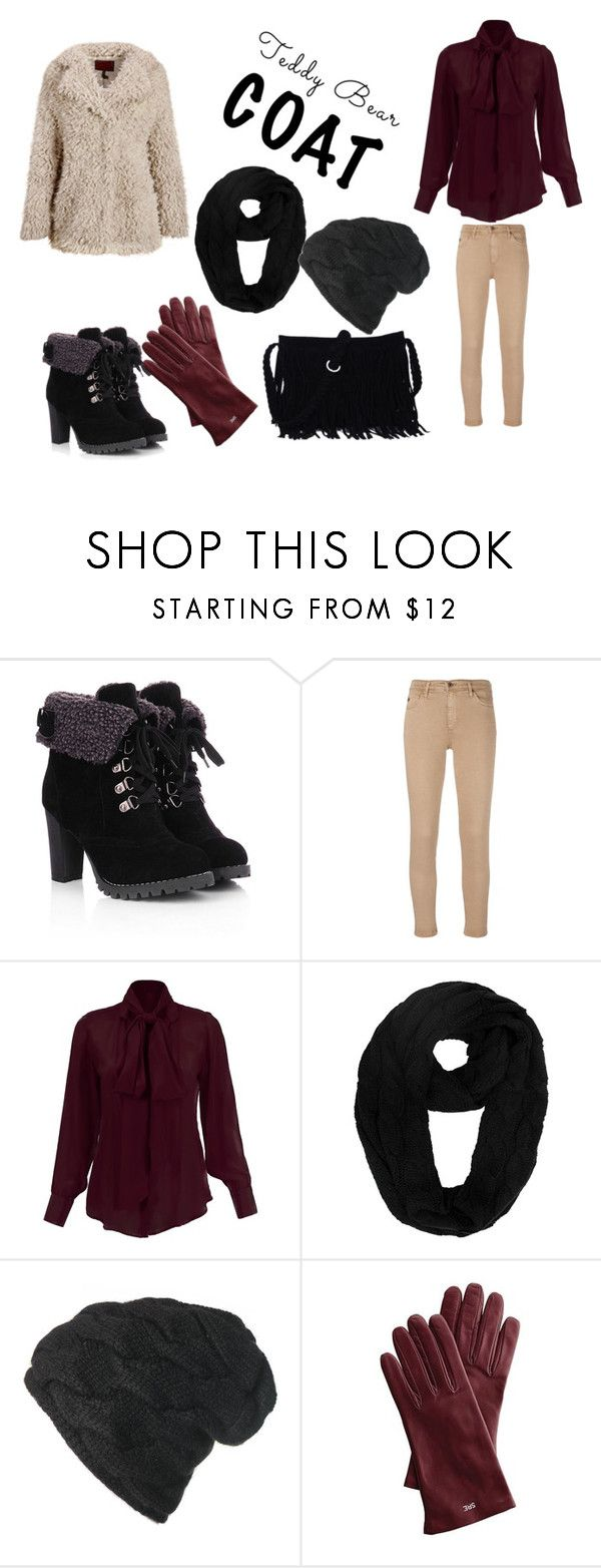 """Gloves"" by ssbrina ❤ liked on Polyvore featuring AG Adriano Goldschmied, Black and Mark & Graham"