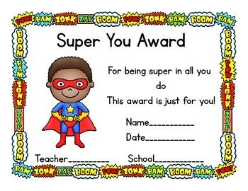 121 best boxtops awards trophies ideas images on pinterest box free super hero theme award certificates yadclub Choice Image