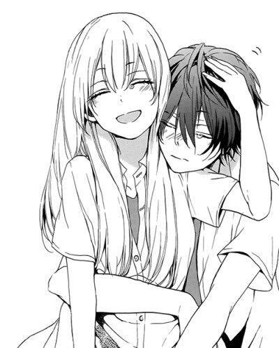 Image via We Heart It https://weheartit.com/entry/171671338/via/10552873 #couple #cute #hug #kawaii #love #manga #romance #shoujo
