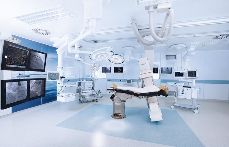 Operating Theater using screens