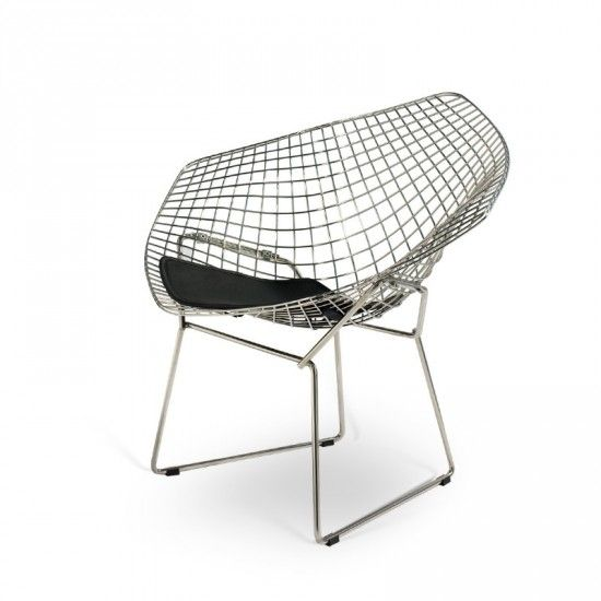 Bertoia Diamond Chair Black