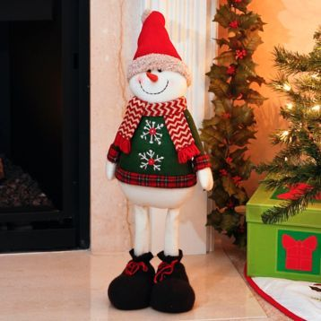 The Plush Boy Snowman is ready to bring cheer to your home! #kirklands #holidaydecor #KirklandsHoliday