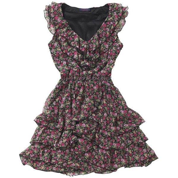 Multi coloured ditsy tea dress