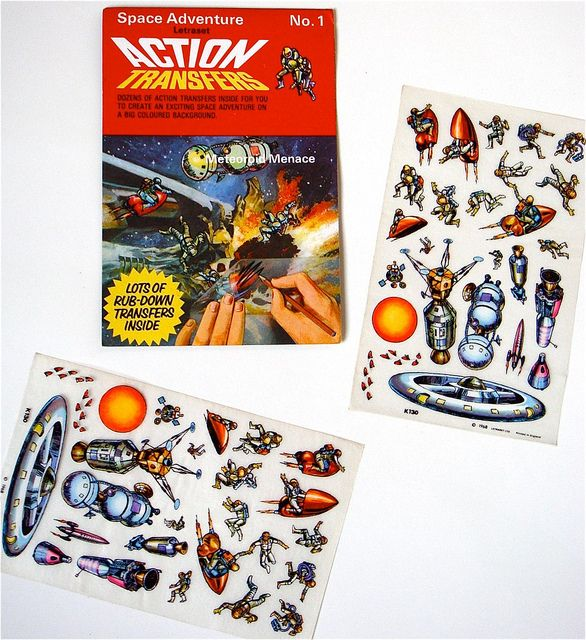 Letraset Action Transfers 'Space Adventure/Meteoroid Menace' 1968 | Flickr - Photo Sharing!