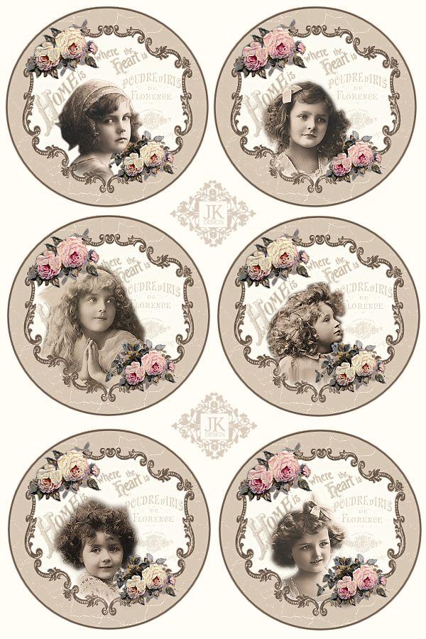 JanetK.Design Free digital vintage stuff: Tags