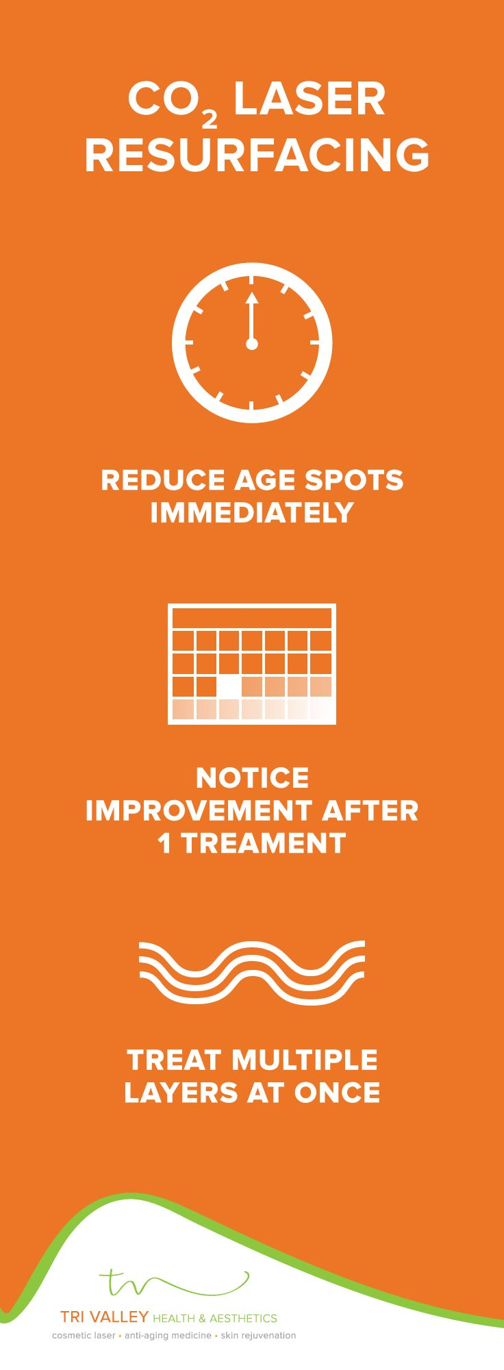 Yes, you CAN get rid of age spots! CO2 Laser Resurfacing improves skin after just one treatment.