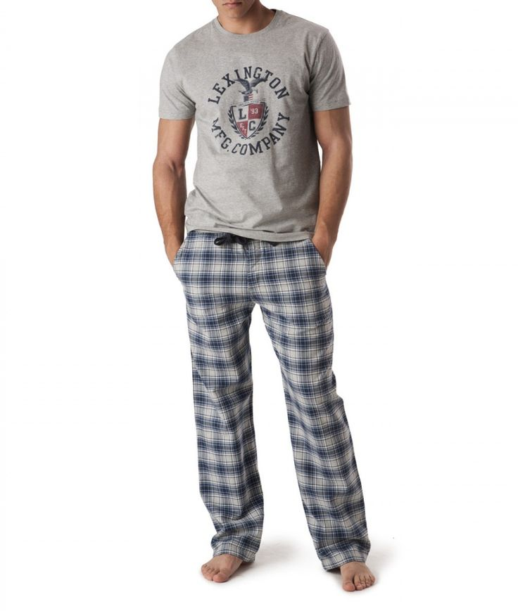 Perfect Men's Pajamas :) So wish beto wore pajamas like this