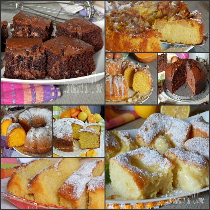 Torte soffici senza fruste raccolta facile e golosa, ricette per torte golose con il frullatore o con un cucchiaio, raccolta ricette dolci facili e veloci