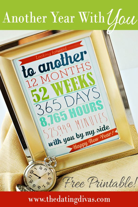 I know what I am giving my sweetheart for New Years! Super cute card that I can keep up all year long! Super cute! www.TheDatingDivas.com