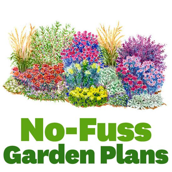 No Fuss Garden Plans Beautiful Flower and Mow the lawn