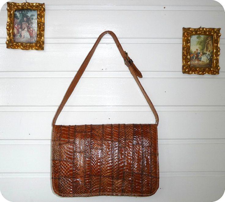 Vintage ADOLF EUROPE Leder Tasche Leather Bag Handtasche Clutch 60er Schlange | eBay