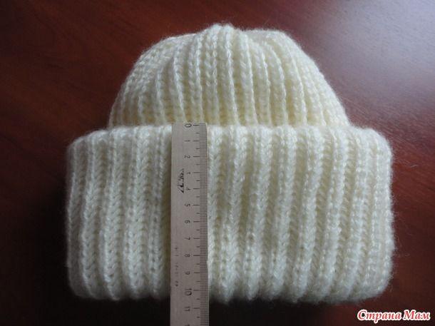 Модная шапка с двойным отворотом