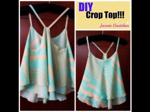 DIY How To Make A Crop Top -- Como HacerUn Crop Top - YouTube