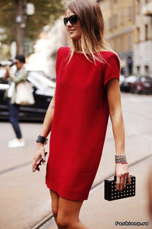 Красное платье / фото страсть в красном