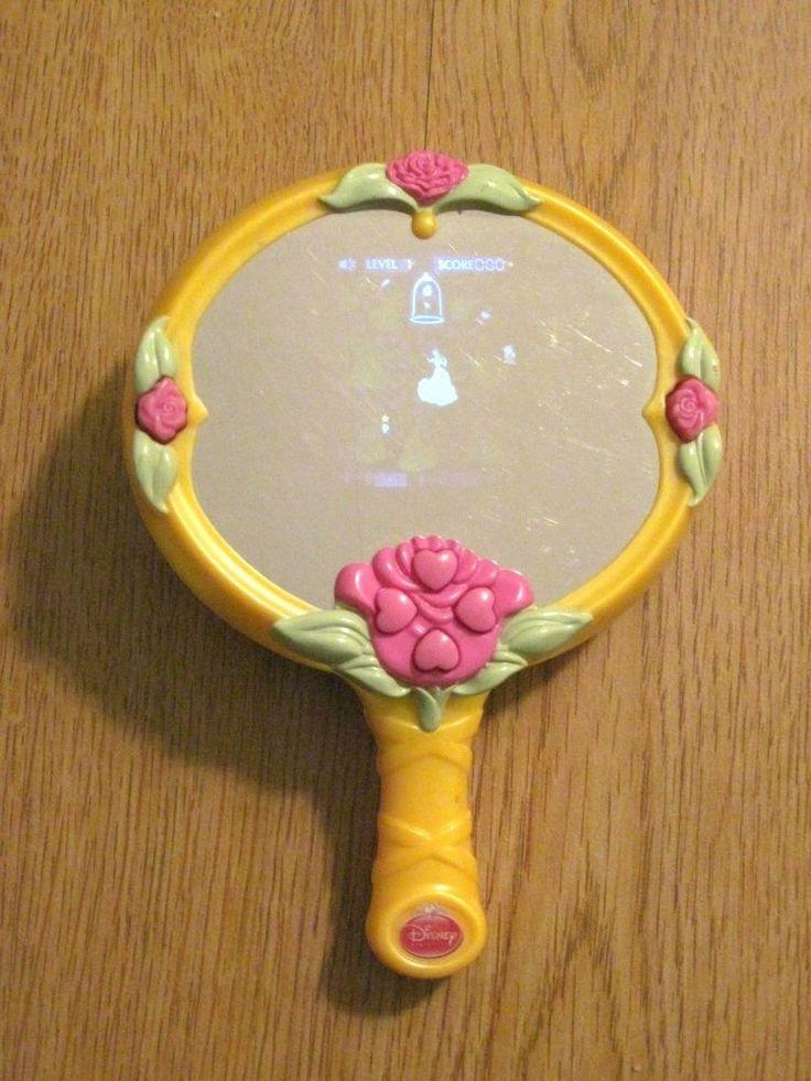 Disney Princess Belle's Magic Mirror LCD Video Game Good Working Condition #Disney