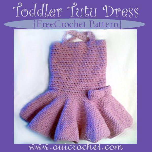Toddler Tutu Dress {Free Crochet Pattern} www.ouicrochet.com