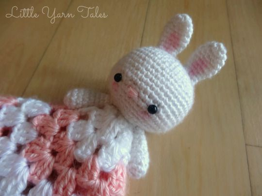 Bunny Lovey/Security Blanket   Bunny by Little Yarn Tales Blanket by The Stitchin Mommy
